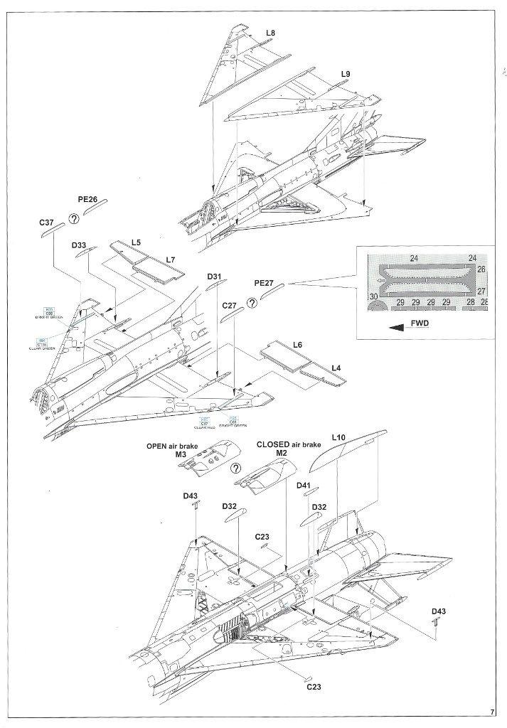 """Anleitung07-2-713x1024 MiG-21PFM """"Vietnam"""" 1:48 Eduard (#11115)"""