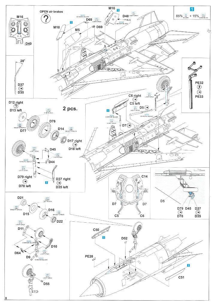 """Anleitung08-2-708x1024 MiG-21PFM """"Vietnam"""" 1:48 Eduard (#11115)"""