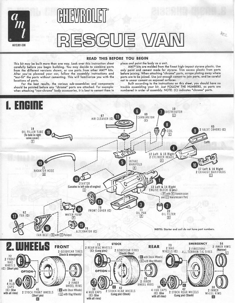 Anleitung1-1 Chevy Rescue Van 1:25 AMT (#812)