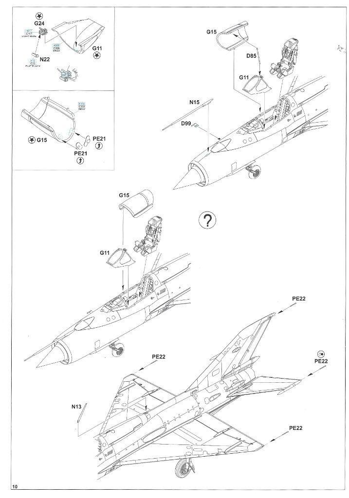 """Anleitung10-1-717x1024 MiG-21PFM """"Vietnam"""" 1:48 Eduard (#11115)"""