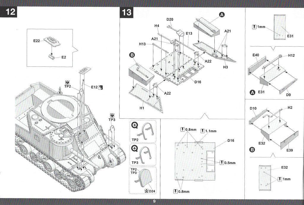Anleitung10-2-1024x691 US Medium Tank M3 Lee Late 1:35 Takom (2087)