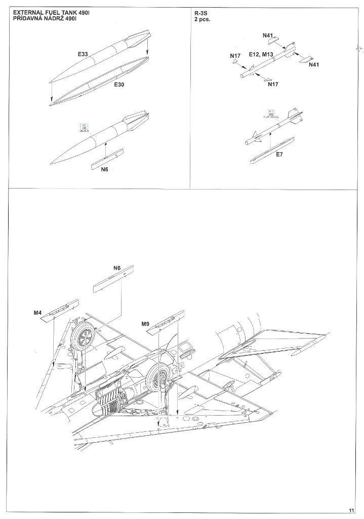 """Anleitung11-1-719x1024 MiG-21PFM """"Vietnam"""" 1:48 Eduard (#11115)"""