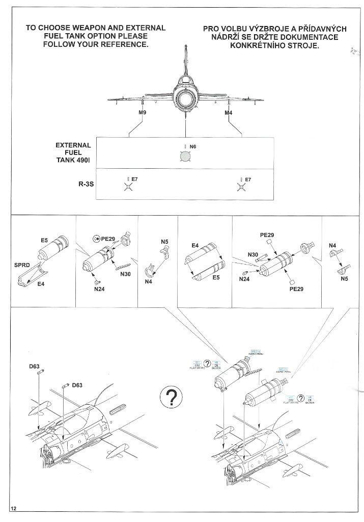 """Anleitung12-1-715x1024 MiG-21PFM """"Vietnam"""" 1:48 Eduard (#11115)"""