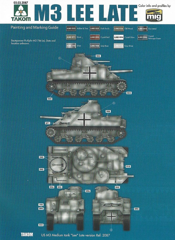 Anleitung13-1-747x1024 US Medium Tank M3 Lee Late 1:35 Takom (2087)