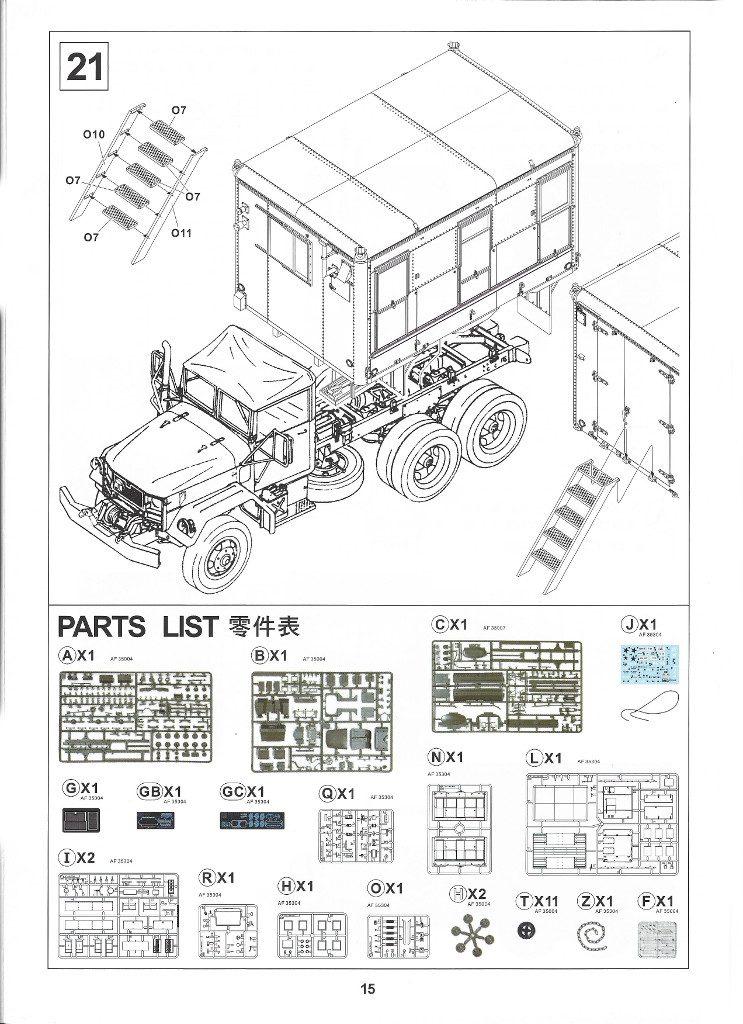 Anleitung15-2-743x1024 M109A3 2.5-Ton 6×6 Shop Van 1:35 AFV Club (#AF35304)