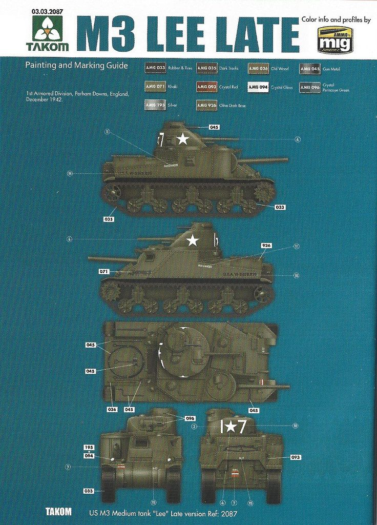 Anleitung16-1-736x1024 US Medium Tank M3 Lee Late 1:35 Takom (2087)