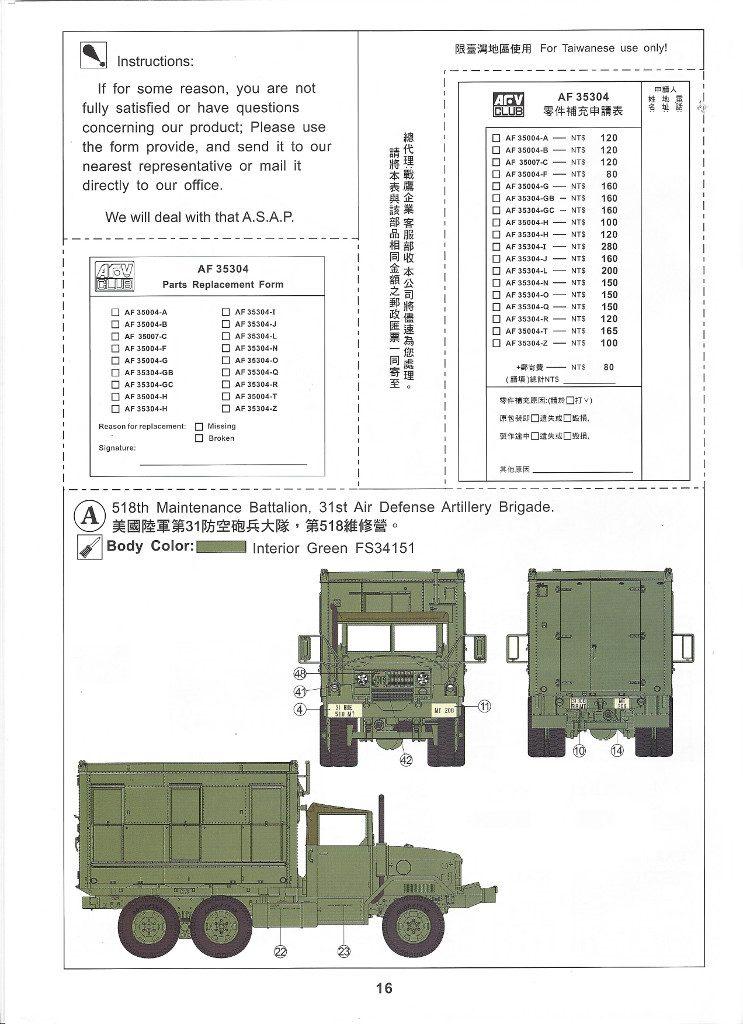 Anleitung16-2-743x1024 M109A3 2.5-Ton 6×6 Shop Van 1:35 AFV Club (#AF35304)
