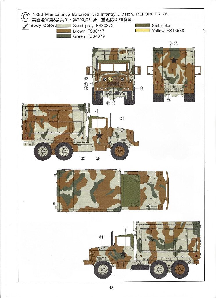 Anleitung18-1-743x1024 M109A3 2.5-Ton 6×6 Shop Van 1:35 AFV Club (#AF35304)