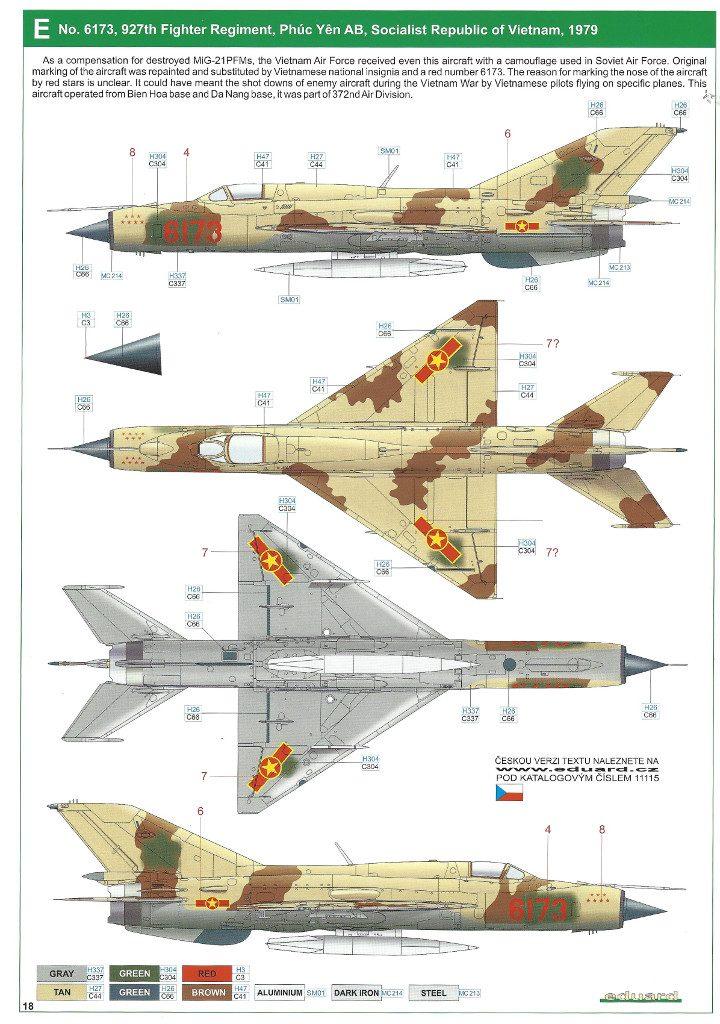 """Anleitung18-720x1024 MiG-21PFM """"Vietnam"""" 1:48 Eduard (#11115)"""