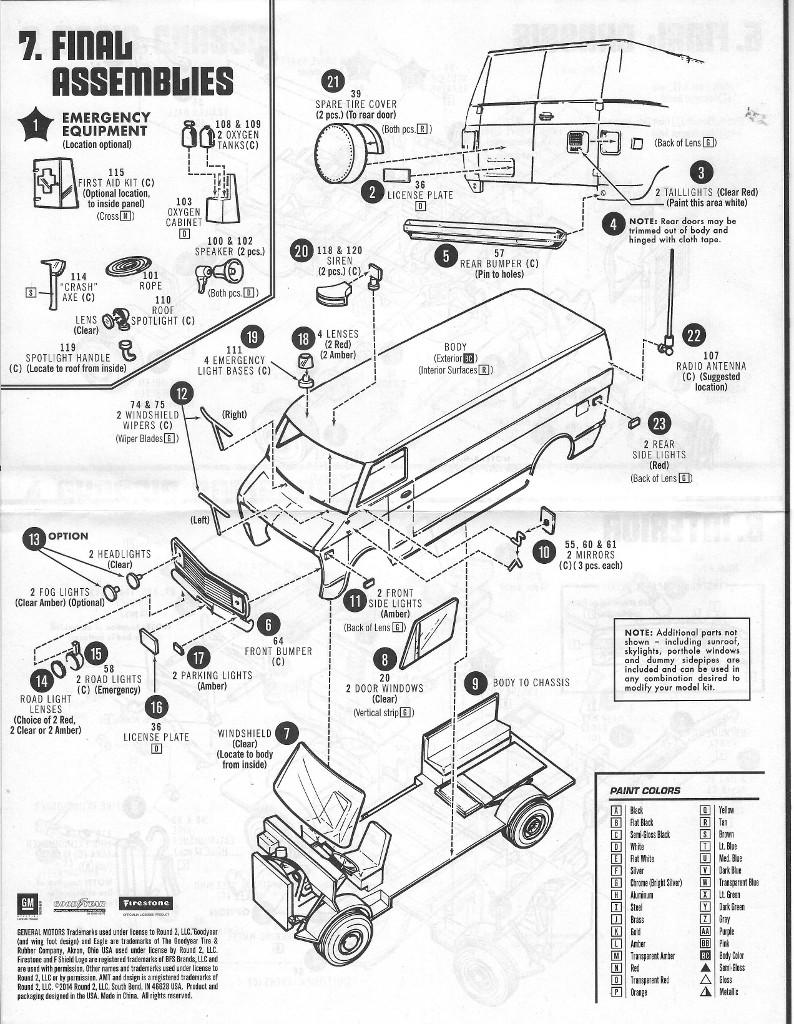 Anleitung4 Chevy Rescue Van 1:25 AMT (#812)