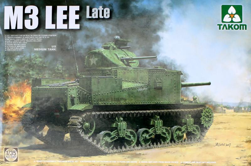 Box-5 US Medium Tank M3 Lee Late 1:35 Takom (2087)