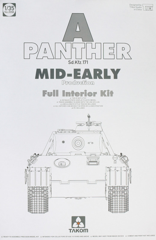 Box-7 Panther Ausf. A mid-early prod. (full interior) 1:35 Takom #2098