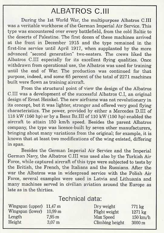 Eduard-8009-Albatros-C.III-1995-11 Kit-Archäologie - heute: Albatros C.III von Eduard im Maßstab 1:48 #8009