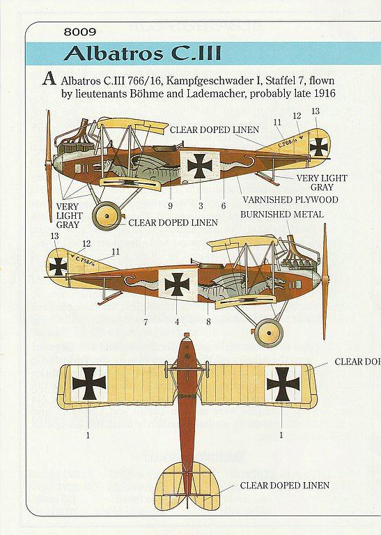 Eduard-8009-Albatros-C.III-1995-12 Kit-Archäologie - heute: Albatros C.III von Eduard im Maßstab 1:48 #8009