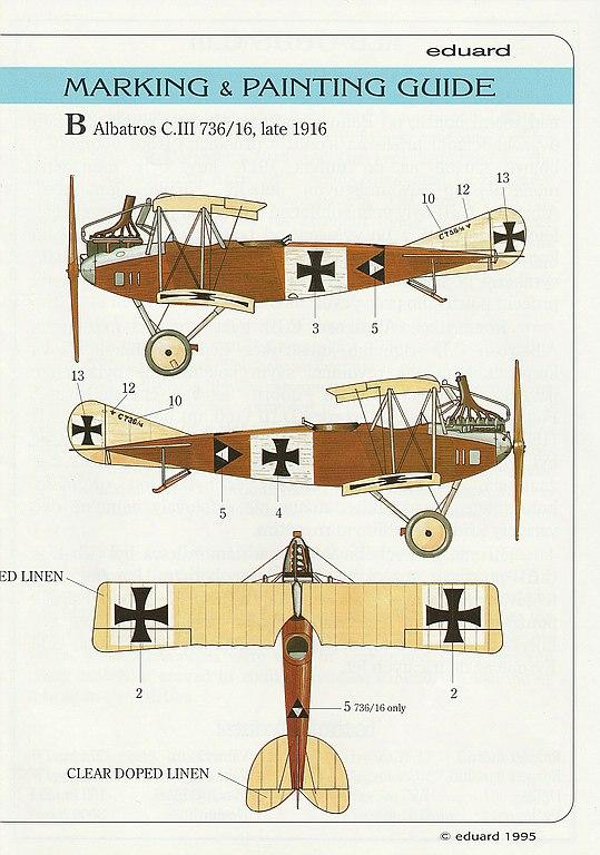 Eduard-8009-Albatros-C.III-1995-13 Kit-Archäologie - heute: Albatros C.III von Eduard im Maßstab 1:48 #8009