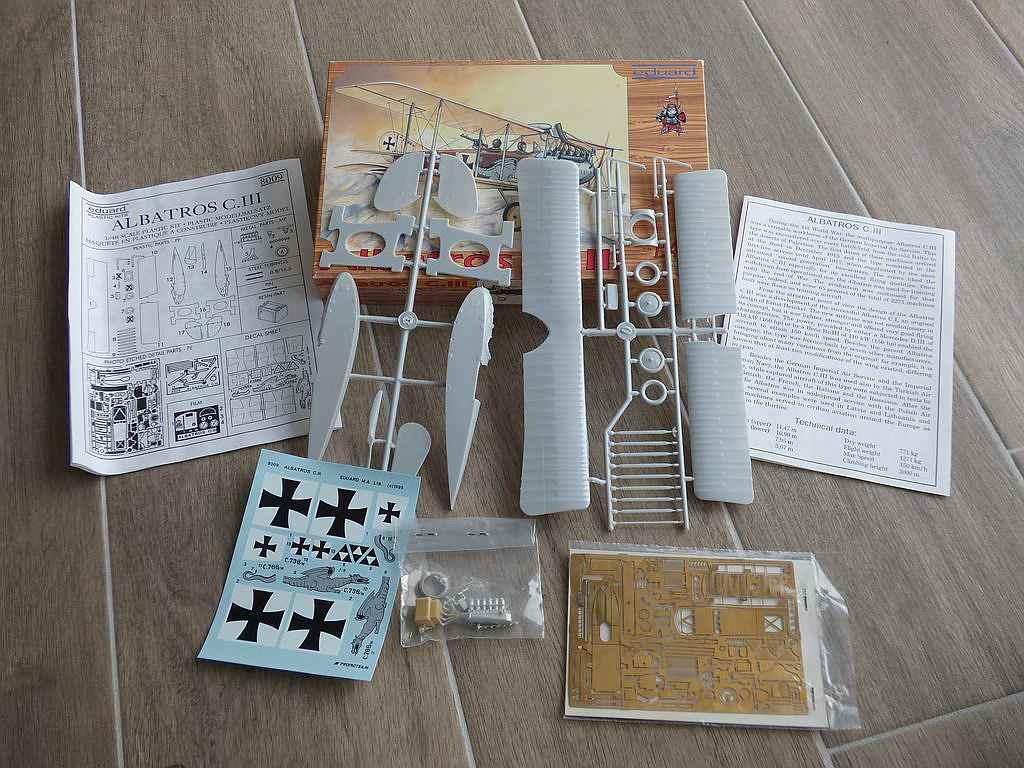 Eduard-8009-Albatros-C.III-1995-2 Kit-Archäologie - heute: Albatros C.III von Eduard im Maßstab 1:48 #8009