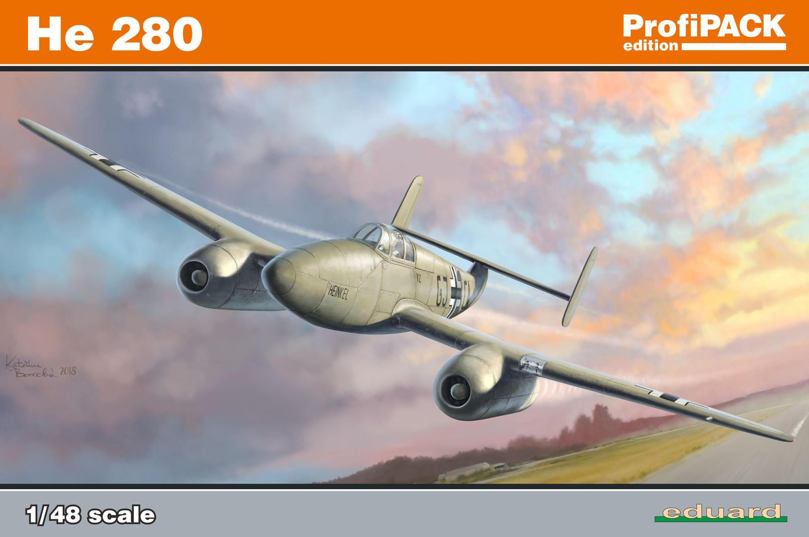 Eduard-8068-Heinekl-he-280-Deckelbild Heinkel He 280 PROFIPACK in 1:48 von Eduard 8068