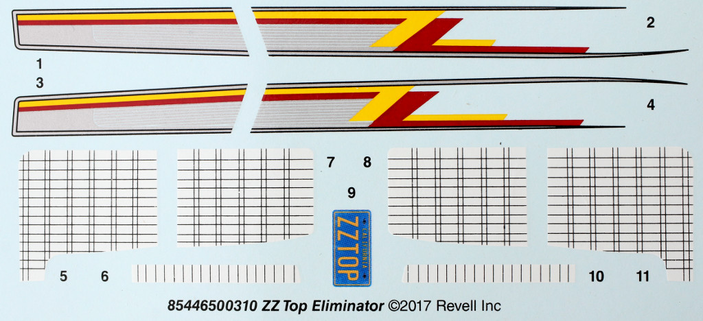 Eliminator-Decals ZZ Top Eliminator 1:24 Revell USA (#85-4465)
