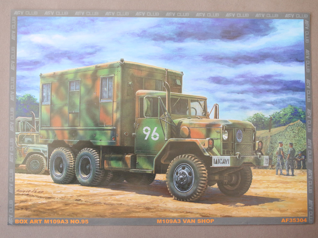 Kunstdruck M109A3 2.5-Ton 6×6 Shop Van 1:35 AFV Club (#AF35304)