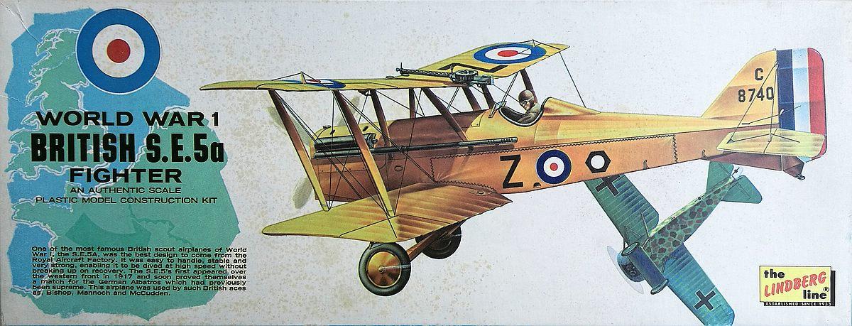 Lindberg-S.E.-5a-1 Kit-Archäologie - heute: British Fighter S.E. 5a von Lindberg im Maßstab 1:48