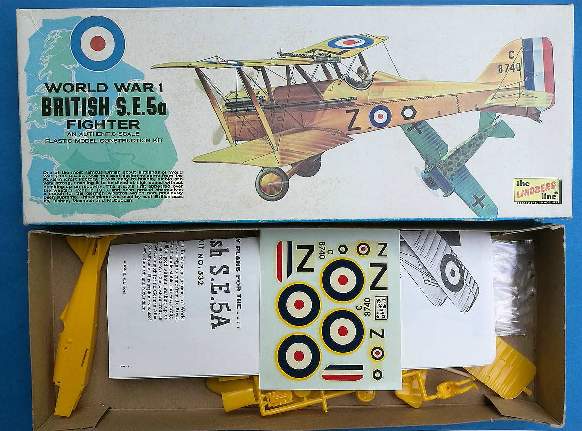 Lindberg-S.E.-5a-23 Kit-Archäologie - heute: British Fighter S.E. 5a von Lindberg im Maßstab 1:48