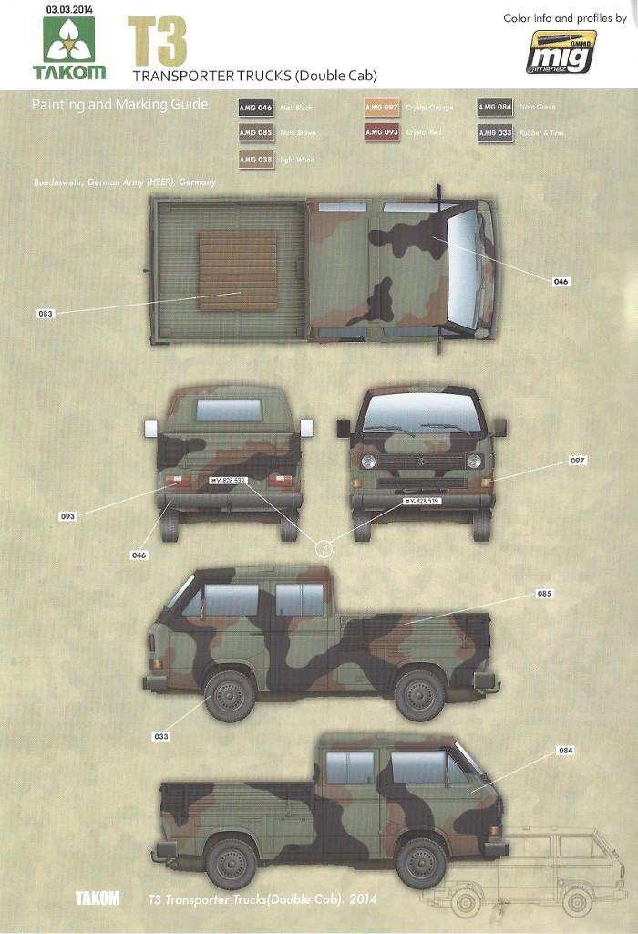 Markierung1 T3 Transporter Truck Double Cab 1:35 Takom (#2014)