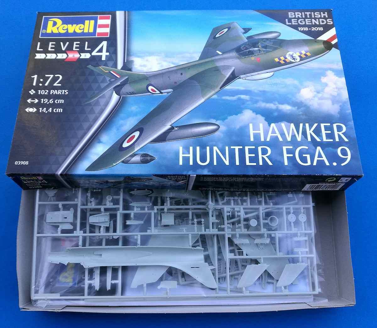 Revell-03908-Hawker-Hunter-FGA-1 Hawker Hunter FGA.9 British Legends im Maßstab 1:72 von Revell 03908