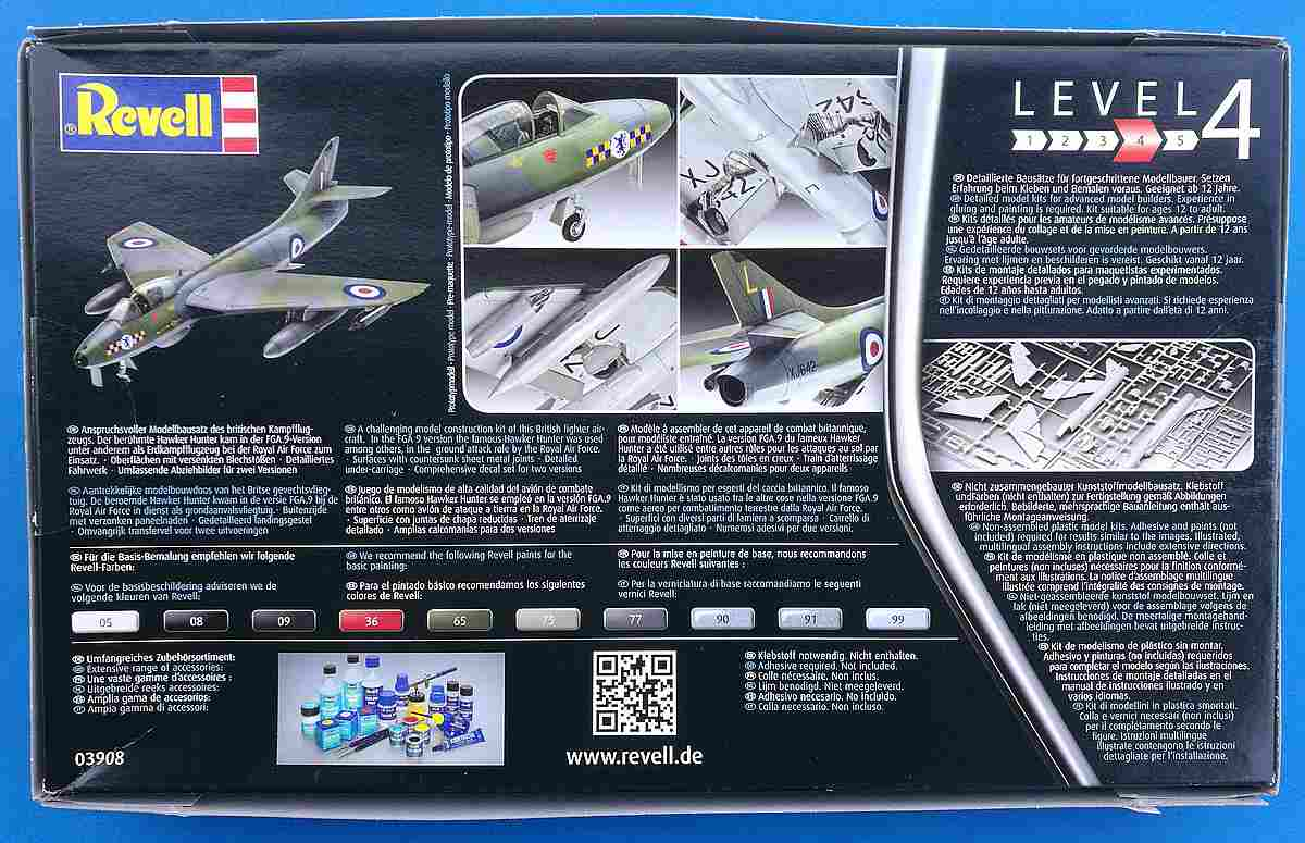 Revell-03908-Hawker-Hunter-FGA-18 Hawker Hunter FGA.9 British Legends im Maßstab 1:72 von Revell 03908