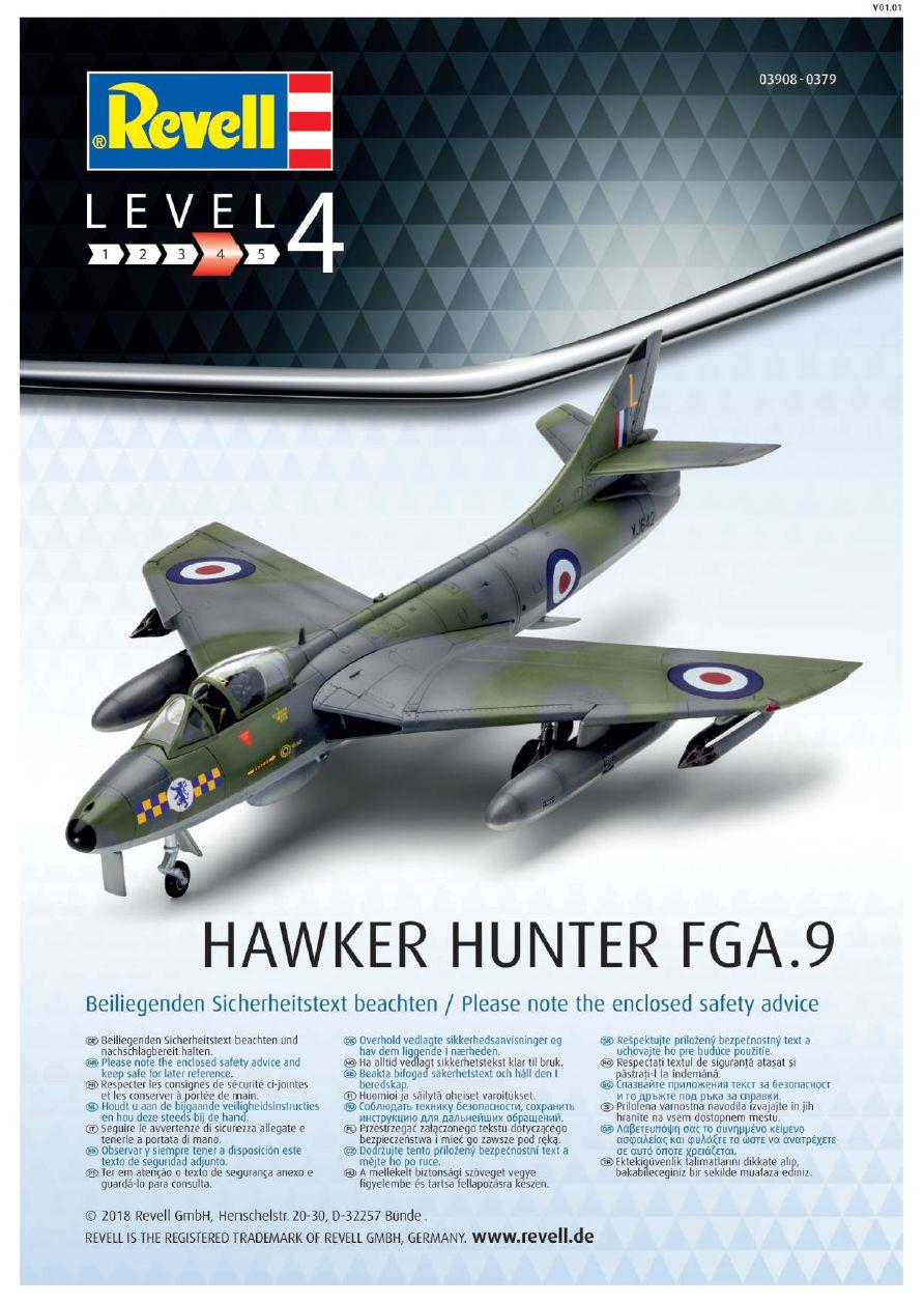 Revell-03908-Hawker-Hunter-FGA.9-Bauanleitung-14 Hawker Hunter FGA.9 British Legends im Maßstab 1:72 von Revell 03908