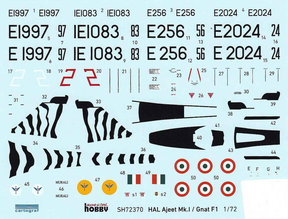 Special-Hobby-SH-72370-Ajeet-Mk.-I-Indian-Light-Fighter-24 Ajeet Mk. I Indian Light Fighter im Maßstab 1:72 von Special Hobby SH 72370