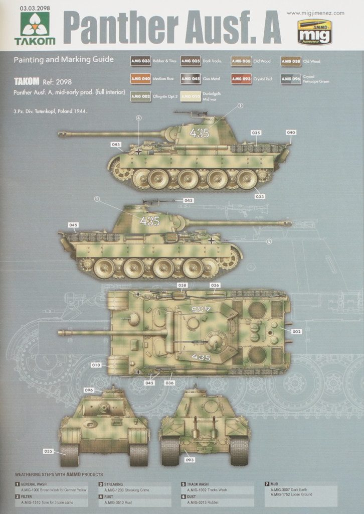 Variante1-726x1024 Panther Ausf. A mid-early prod. (full interior) 1:35 Takom #2098