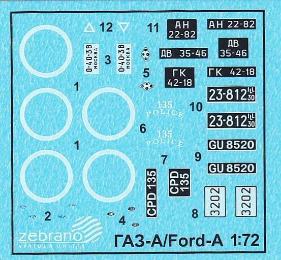 Zebrano-72109-GAZ-A-Ford-Model-A-22 GAZ-A / Ford Model A in 1:72 von Zebrano 72109