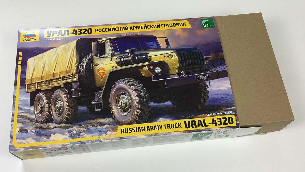 Zvezda-3654-Ural-4320-3 Russischer LKW Ural 4320 im Maßstab 1:35 von Zvezda 3654