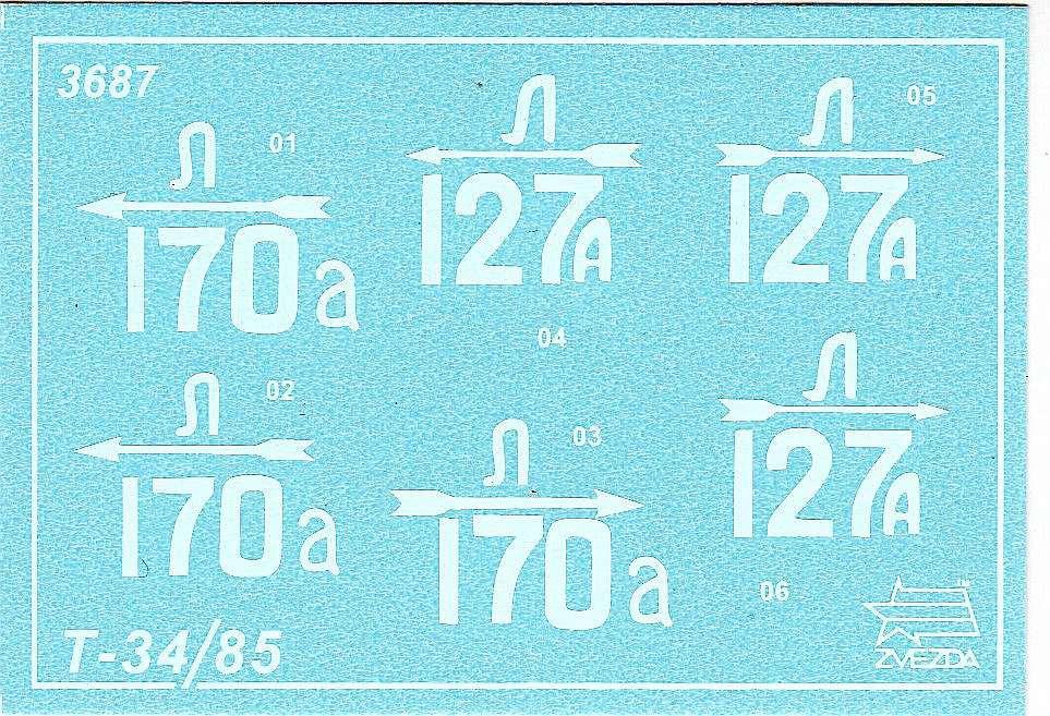 Zvezda-3687-T-34-85-Mod.-1944-6 T-34/85 Modell 1944 in 1:35 von Zvezda # 3687