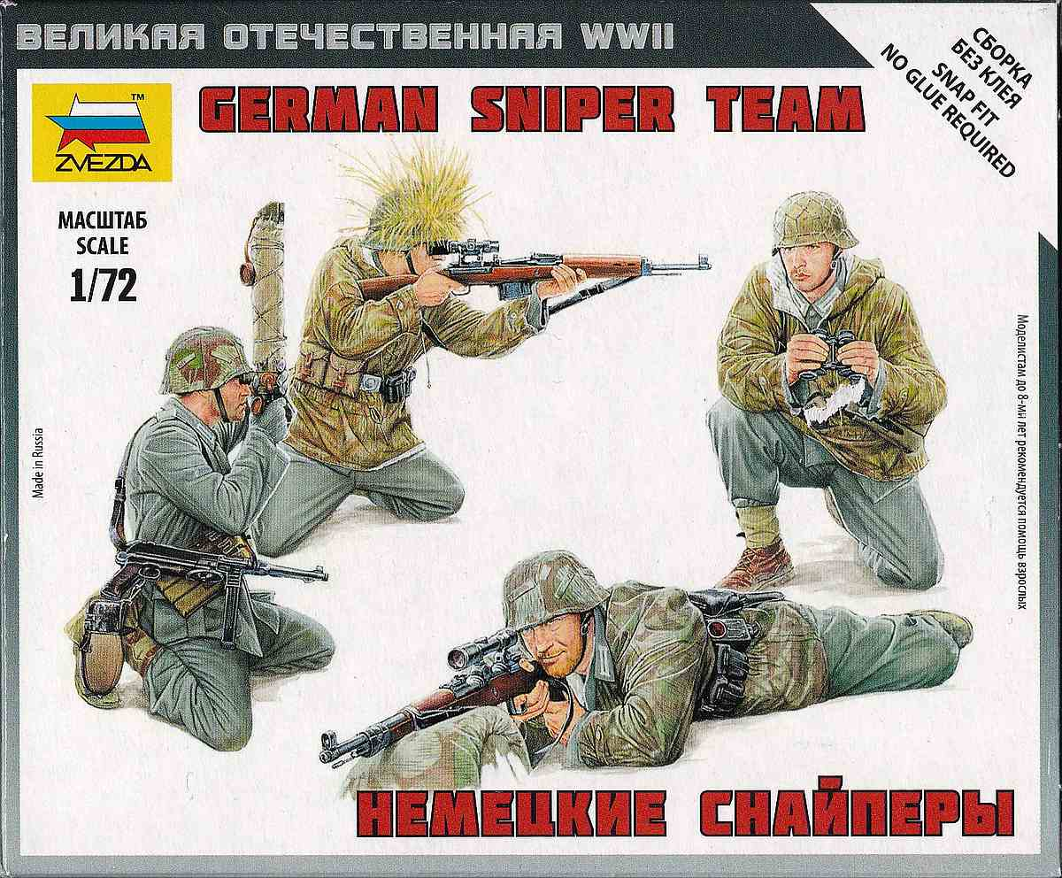 Zvezda-6217-German-Sniper-Team-3 German Sniper Team in 1:72 von Zvezda