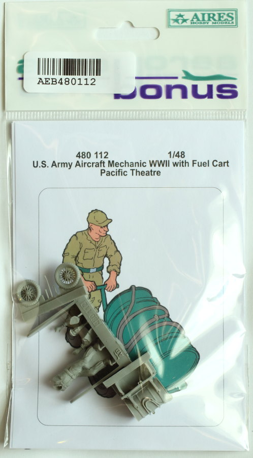 Aerobonus_Mecanic_w_fuel_cart_01 U.S. Army Aircraft Mechanic with Fuel Cart - Aerobonus 1/48
