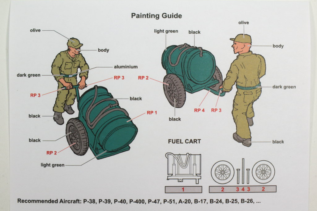 Aerobonus_Mecanic_w_fuel_cart_11 U.S. Army Aircraft Mechanic with Fuel Cart - Aerobonus 1/48