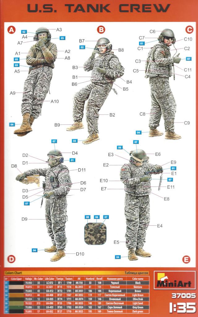 Anleitung U.S. Tank Crew 1:35 Miniart #37005