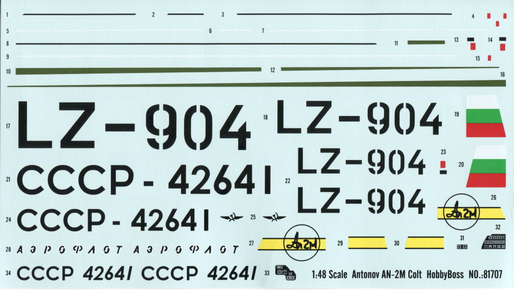 Antonov_AN-2_HobbyBoss_36 Antonov An-2M Colt - Hobby Boss 1/48