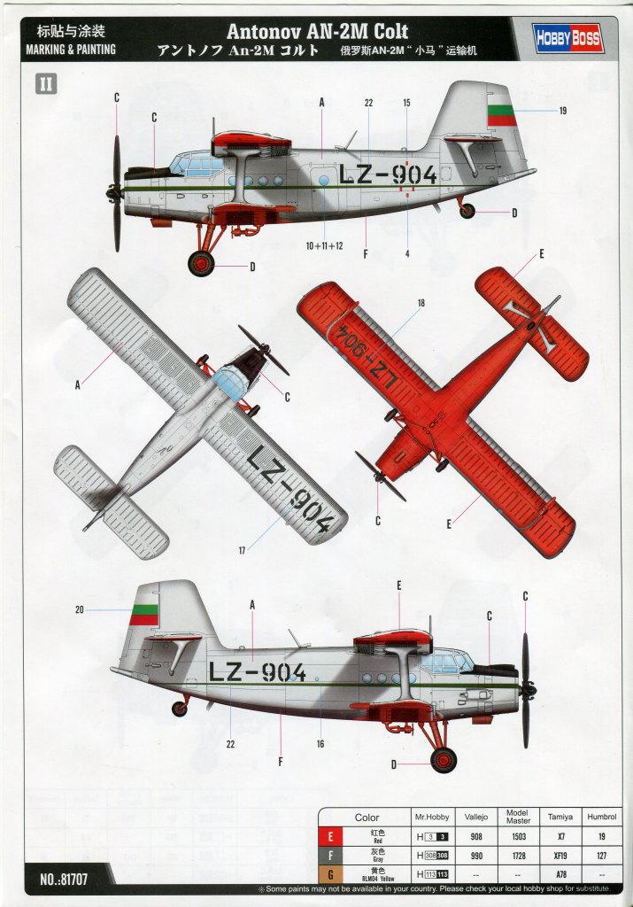 Antonov_AN-2_HobbyBoss_57 Antonov An-2M Colt - Hobby Boss 1/48