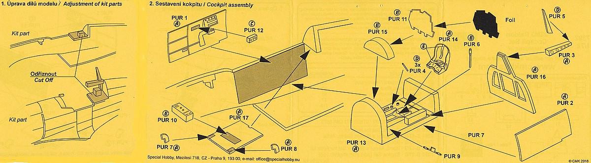CMK-7392-J2M3-Raiden-Cockpit-Set-6 Zubehör für Hasegawas J2M3 Raiden im Maßstab 1:72 von CMK 7392 - 7396