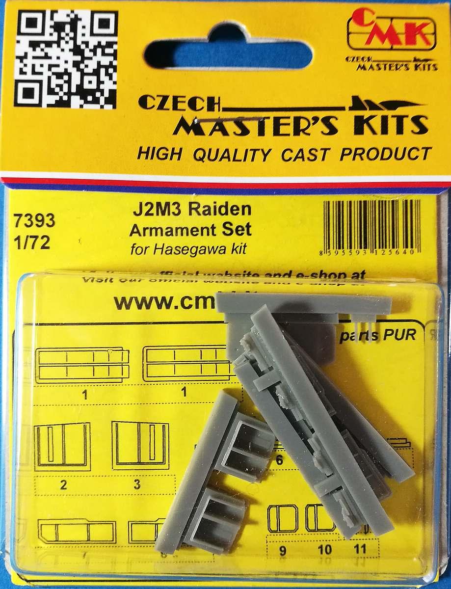 CMK-7393-J2M3-Raiden-Armament-set-1 Zubehör für Hasegawas J2M3 Raiden im Maßstab 1:72 von CMK 7392 - 7396