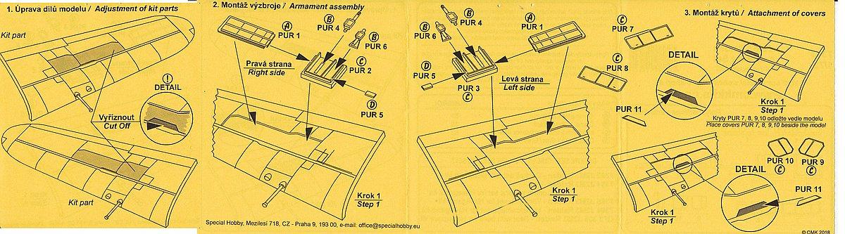 CMK-7393-J2M3-Raiden-Armament-set-3 Zubehör für Hasegawas J2M3 Raiden im Maßstab 1:72 von CMK 7392 - 7396
