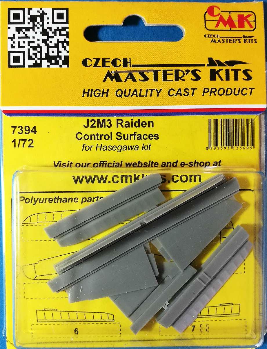 CMK-7394-J2M3-Raiden-Control-Surfaces-1 Zubehör für Hasegawas J2M3 Raiden im Maßstab 1:72 von CMK 7392 - 7396