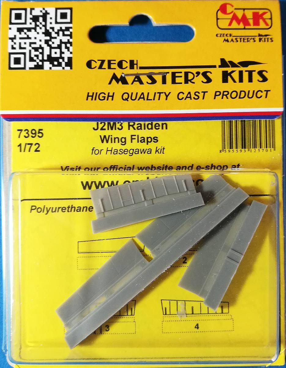 CMK-7395-J2M3-Raiden-Wing-Flaps-1 Zubehör für Hasegawas J2M3 Raiden im Maßstab 1:72 von CMK 7392 - 7396