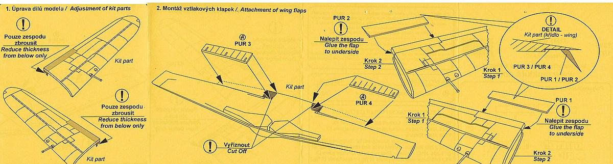 CMK-7395-J2M3-Raiden-Wing-Flaps-3 Zubehör für Hasegawas J2M3 Raiden im Maßstab 1:72 von CMK 7392 - 7396