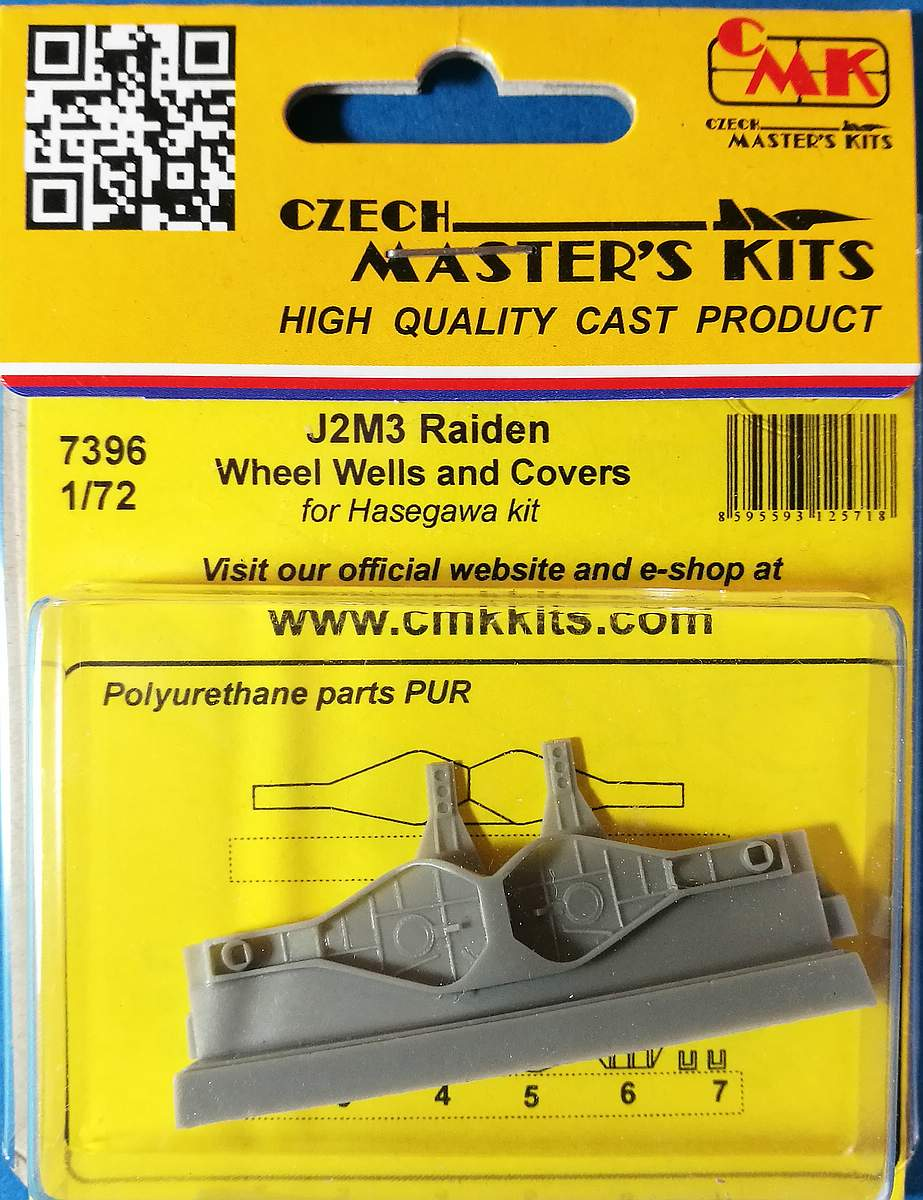 CMK-7396-J2M3-Raiden-Wheel-Wells-and-Covers-4 Zubehör für Hasegawas J2M3 Raiden im Maßstab 1:72 von CMK 7392 - 7396