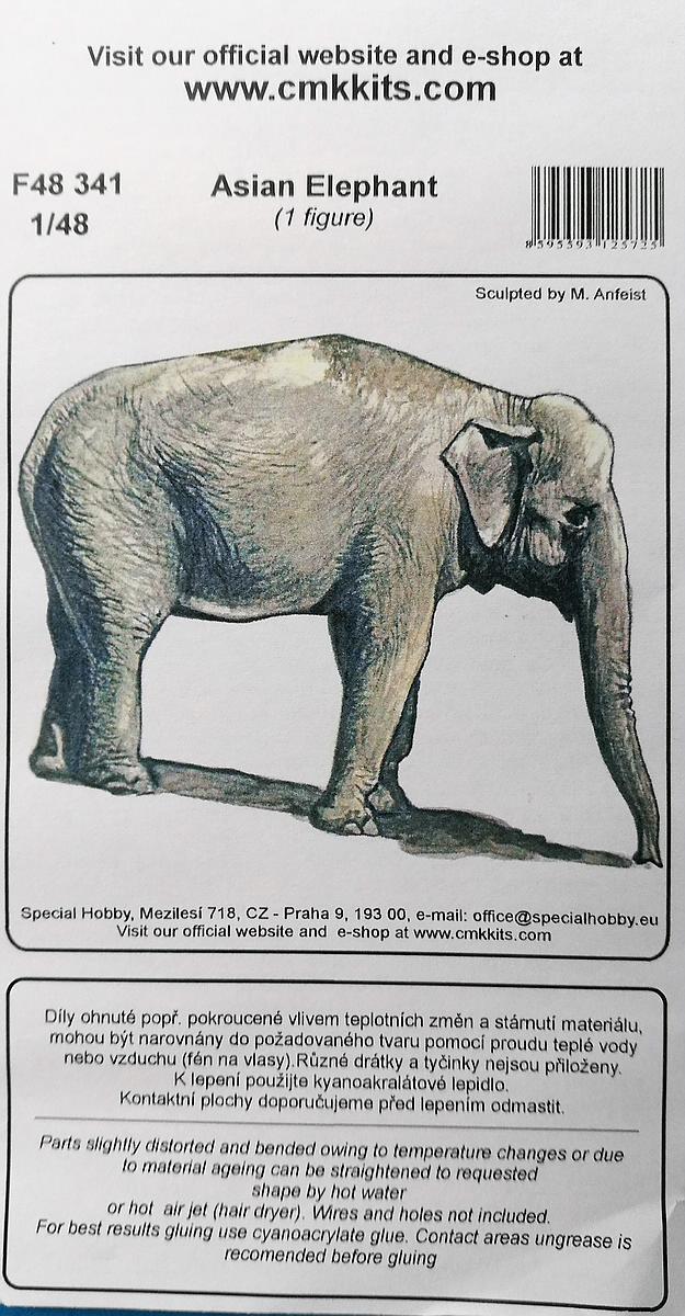 CMK-F48341-Asian-Elephant-2 Asian Elephant im Maßstab 1:48 von CMK/Special Hobby F48 341