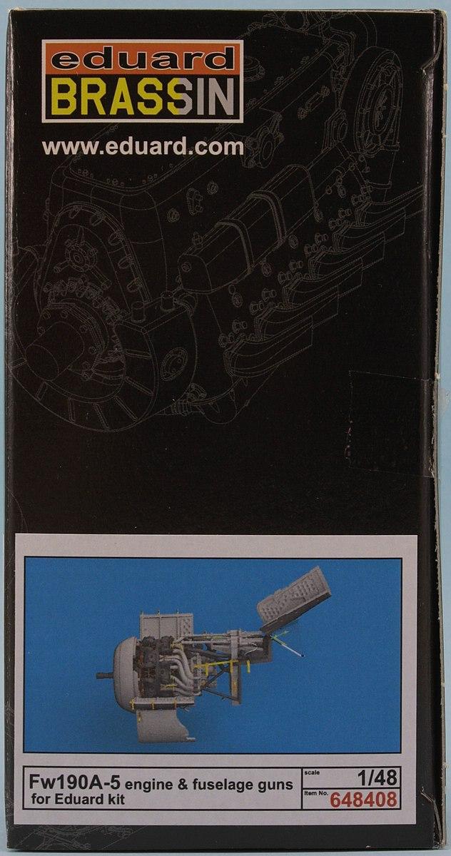 Eduard-648408-FW-190-A-5-Engine-Brassin-10 FW 190 A-5 BRASSIN Engine and Fuselage Guns in 1:48 von Eduard 648408