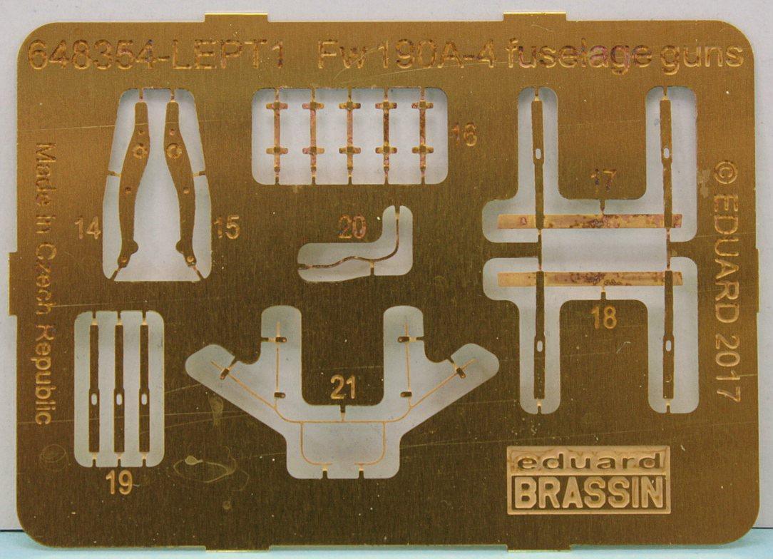 Eduard-648408-FW-190-A-5-Engine-Brassin-25 FW 190 A-5 BRASSIN Engine and Fuselage Guns in 1:48 von Eduard 648408